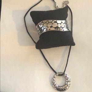 Park Lane silver necklace and bracelet set